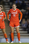 20 October 2013: Clemson's Katelyn Reeve. The University of North Carolina Tar Heels hosted the University of Virginia Cavaliers at Fetzer Field in Chapel Hill, NC in a 2013 NCAA Division I Women's Soccer match. North Carolina won the game 2-0.