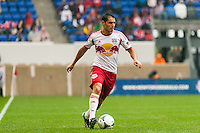 Fabian Espindola (9) of the New York Red Bulls. The New York Red Bulls defeated the Los Angeles Galaxy 1-0 during a Major League Soccer (MLS) match at Red Bull Arena in Harrison, NJ, on May 19, 2013.