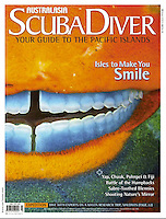 Macro shot of a parrot fish on the cover of SDAA.