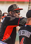 10 March 2015: Hall of Fame outfielder and Miami Marlins coach Andre Dawson watches batting practice prior to a Spring Training game against the Washington Nationals at Roger Dean Stadium in Jupiter, Florida. The Marlins edged out the Nationals 2-1 on a walk-off solo home run in the 9th inning of Grapefruit League play. Mandatory Credit: Ed Wolfstein Photo *** RAW (NEF) Image File Available ***