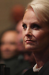 Cindy McCain, wife of U.S. Presidential candidate John McCain, attends the Service Nation Presidential Candidates Forum on September 11, 2008 in Lerner Hall at Columbia University in New York, NY.  The forum was a chance for Senators Barack Obama and John McCain to discuss their views on community service. (Tina Gao/PressPhotoIntl.com)