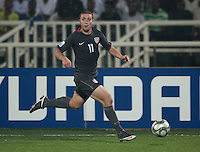 Nick Palodichuk dribbles the ball. Spain defeated the U.S. Under-17 Men National Team  2-1 at Sani Abacha Stadium in Kano, Nigeria on October 26, 2009.