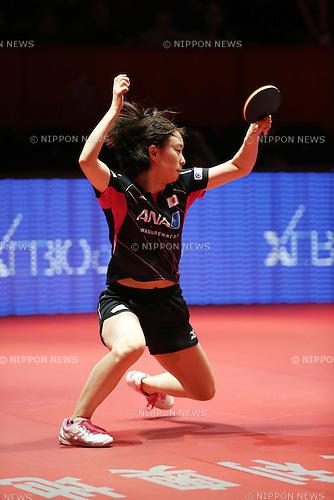 Kasumi Ishikawa (JPN), NOVEMBER 1, 2015 - Table Tennis : 2015 ITTF Women's World Cup Sendai at Final in Sendai, Japan. (Photo by AFLO SPORT)