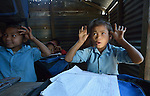 Children sing a song in class at the Shri Pashupati Praja Primary School in the village of Tanglichowk, in the Gorkha District of Nepal. In the aftermath of the April 2015 earthquake that ravaged Nepal, the ACT Alliance helped people in this village with a variety of services, including latrines, emergency shelter, livelihood projects and school construction.
