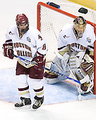 Brett Motherwell (Boston College - St. Charles, IL), Cory Schneider (Boston College - Marblehead, MA) - The Michigan State Spartans defeated the Boston College Eagles 3-1 (EN) to win the national championship in the final game of the 2007 Frozen Four at the Scottrade Center in St. Louis, Missouri on Saturday, April 7, 2007.