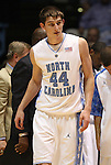 08 November 2008: North Carolina's Tyler Zeller. The University of North Carolina Tarheels defeated the University of North Carolina at Pembroke Braves 102-62 at the Dean E. Smith Center in Chapel Hill, NC in an NCAA exhibition basketball game.