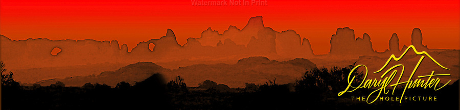 Arches National Park, Sunrise, Moab Utah, digitally modified from photo I took.