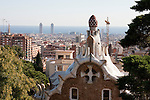 Park Guell Barcelona in December