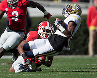 Athens, GA - November 26, 2016: The University of Georgia Bulldogs play the Georgia Tech Yellow Jackets at Sanford Stadium.  Final score Georgia Tech 28, Georgia 27.