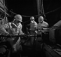 Chernobyl, Ukraine, Ocober 1995..The explosion at the Chernobyl Nuclear Power Plant on April 26 1986 was the worst nuclear accident in history..Maintainance work inside the sarcophagus which encloses the destroyed Reactor No 4.