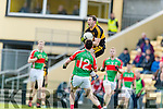 Daithí Casey Dr Crokes in Action against Aidan McGrath Loughmore-Castleiney in the Munster Senior Club Semi-Final at Crokes Ground, Lewis Road on Sunday