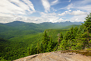 View from Attitash Trail on Table Mountain in Bartlett, New Hampshire USA during the summer months.