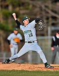 15 April 2008: Dartmouth College Big Green pitcher Ben Murray, a Sophomore from Grants Pass, OR, in action against the University of Vermont Catamounts at Historic Centennial Field in Burlington, Vermont. The Catamounts rallied from a 7-3 deficit to win 8-7 over Dartmouth in a non-conference NCAA game...Mandatory Photo Credit: Ed Wolfstein Photo