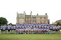 The Bath Rugby squad, coaches and support staff pose for a team photo. Bath Rugby Media Day on August 24, 2016 at Farleigh House in Bath, England. Photo by: Rogan Thomson / JMP / Onside Images