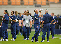 USA players, including Earnie Stewart, check out the stadium prior to the game. The USA tied South Korea, 1-1, during the FIFA World Cup 2002 in Daegu, Korea.