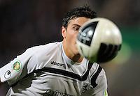 FUSSBALL   DFB POKAL   SAISON 2011/2012  1. Hauptrunde VfL Osnabrueck - TSV 1860 Muenchen                29.07.2011 Kevin VOLLAND (1860 Muenchen) fixiert den Ball