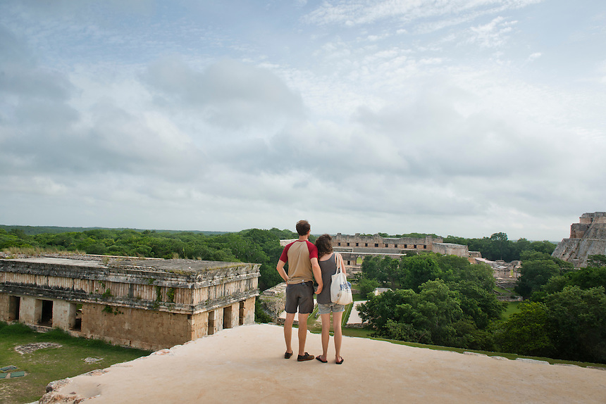 Mayan Archeological site of Uxmal. Yucatan, Mexico