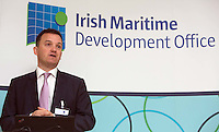 ***NO FEE PIC ***<br /> 23/04/2015<br /> William H Batt Indecon<br /> during the  launch by the Irish Maritime Development Office (IMDO) of its Irish Maritime Transport Economist report at the Morrison Hotel , Dublin.<br /> Photo:  Gareth Chaney Collins