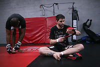 Jackson's/Winkeljohn's: January 16, 2012 UFC welterweight Carlos Condit during Greg Jackson's grappling class at Jackson's/Winkeljohn's in Albuquerque, NM. Carlos is training for his upcoming interim title fight against Nick Diaz at UFC 143.