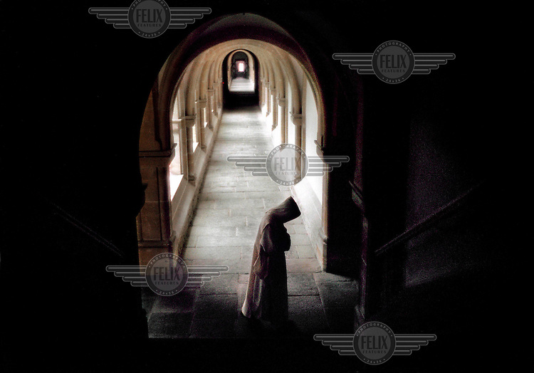 A member of the Carthusian Monks of Charterhouse, a silent order.