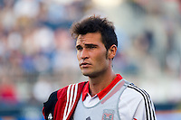 Emiliano Dudar (19) of DC United. DC United defeated Philadelphia Union 1-0 during a Major League Soccer (MLS) match at PPL Park in Chester, PA, on June 16, 2012.