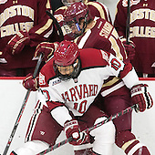 Brayden Jaw (Harvard - 10), Destry Straight (BC - 17) - The visiting Boston College Eagles defeated the Harvard University Crimson 5-1 on Wednesday, November 20, 2013, at Bright-Landry Hockey Center in Cambridge, Massachusetts.