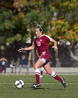 Florida State midfielder Amanda DaCosta (13) at midfield. Florida State University defeated Boston College, 1-0, at Newton Soccer Field, Newton, MA on October 31, 2010.