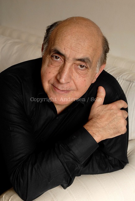 French writer Gilbert Sinoue. Paris, June 14, 2012 - © Ulf Andersen