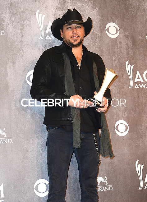 LAS VEGAS, NV, USA - APRIL 06: Jason Aldean in the press room at the 49th Annual Academy Of Country Music Awards held at the MGM Grand Garden Arena on April 6, 2014 in Las Vegas, Nevada, United States. (Photo by Celebrity Monitor)