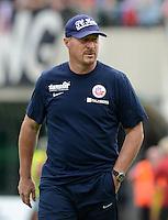 3. Fussball Bundesliga:  2. Spieltag    Saison   2012/2013   SpVgg Unterhaching  - FC Hansa Rostock   28.07.2012 Trainer Wolfgang Wolf (FC Hansa Rostock)