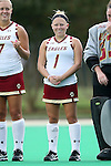 30 September 2016: Boston College's Kaitie Fink. The Duke University Blue Devils hosted the Boston College Eagles at Jack Katz Stadium in Durham, North Carolina in a 2016 NCAA Division I Field Hockey match. Duke won the game 6-2.