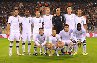 Starting eleven of team USA during the friendly match Belgium against USA at King Baudoin stadium in Brussel, Belgium on September 06th, 2011.