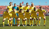 31 March 2011: The Columbus Crew starting eleven during a game between the Columbus Crew and the Toronto FC at BMO Field in Toronto, Ontario Canada..The Columbus Crew won 1-0.