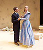Lady Anna All At Sea <br /> at Park Theatre, London, Great Britain <br /> press photocall <br /> 19th August 2015 <br /> <br /> Antonia Kinlay as Lady Anna <br /> Will Rastall as Daniel Thwaite<br /> <br /> <br /> <br /> Photograph by Elliott Franks <br /> Image licensed to Elliott Franks Photography Services