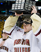 Parker Milner (BC - 35) - The Boston College Eagles defeated the University of Maine Black Bears 7-6 in overtime to win the Hockey East championship on Saturday, March 20, 2010, at TD Garden in Boston, Massachusetts.