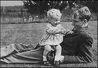 BNPS.co.uk (01202 558833).Pic: Christies/BNPS..***Please use full byline***..The secret off life - Sold today for £4million.....Francis with his son Michael during the war...Most dads dread having to tell their son of the meaning of life but for Francis Crick it was a hugely exciting moment - as he had just literally discovered it...A letter by the famed British scientist to his 12-year-old son in which he reveals for the first time the discovery of DNA has come to light...The handwritten letter, that has today sold for an astonishing £4million at auction in New York, was sent by Dr Crick to son Michael weeks before an official report revealing the historic finding to the world...In it, the biologist who went on to win the Nobel Prize for his work, wrote of having made 'a most important discovery.'..He explains in depth the make-up and code of the DNA helix structure or the so-called blueprint to life...And he instructed Michael to carefully study the DNA structure so that he 'understood' it..