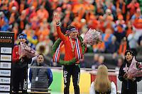 SPEED SKATING: HAMAR: Vikingskipet, 05-03-2017, ISU World Championship Allround, Final Podium Ladies, Martina Sábliková (CZE), Ireen Wüst (NED), Miho Takagi (JPN), photo Martin de Jong