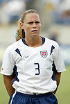 3 July 2004: Christie Rampone. The United States beat Canada 1-0 at the The Coliseum in Nashville, TN in an womens international friendly soccer game..