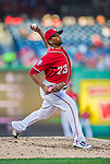 19 September 2015: Washington Nationals pitcher Felipe Rivero on the mound against the Miami Marlins at Nationals Park in Washington, DC. The Nationals defeated the Marlins 5-2 in the third game of their 4-game series. Mandatory Credit: Ed Wolfstein Photo *** RAW (NEF) Image File Available ***