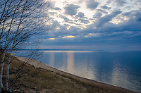 A view of Lake Superior as clouds moved in before sunset. Marquette, MI