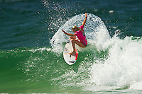 SNAPPER ROCKS, Queensland/Australia (Tuesday, February 28, 2012) Laura Enever (AUS). – The Roxy Gold Coast presented by Land Rover, the opening stop on the 2012 Women's ASP World Championship Tour, today whittled the field down to the just four women with the world's best surfers tested in tricky two-to-three foot (1 metre) surf at Snapper Rocks.. .Tyler Wright (AUS), 17, runner-up at the 2011 Roxy Pro, eliminated reigning ASP Women's World Champion and defending event winner Carissa Moore (HAW), 19, in a re-match of last year's Final. Wright was ferocious in her assault on the waves at Snapper Rocks, posting two excellent scores en route to causing the biggest upset of the event.. .Wright will face compatriot Laura Enever (AUS), 20, in the Semifinals of the Roxy Pro Gold Coast when competition resumes.. .Sally Fitzgibbons (AUS), 21, 2011 ASP Women's World Runner-Up, clocked a pair of scores in the 8-point-range to eliminate newcomer Malia Manuel (HAW), 18, in today's Quarterfinals. Manuel would end up with Eqaul 5th and bragging rights as the highest placed rookie at the 2012 Roxy Pro..  .Fitzgibbons will take on four-time ASP Women's World Champion Stephanie Gilmore (AUS), 24, in the Semifinals when competition resumes. The Gold Coast natural-footer seems to have found her form at the Roxy Pro Gold Coast and will be a dangerous draw when the event recommences.. Photo: joliphotos.com