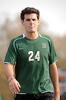 Nick Pappas (24) of the Dartmouth Big Green. Dartmouth defeated Monmouth 4-0 during the first round of the 2010 NCAA Division 1 Men's Soccer Championship on the Great Lawn of Monmouth University in West Long Branch, NJ, on November 18, 2010.
