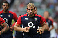 Chris Robshaw of England looks on during the pre-match warm-up. QBE International match between England and Ireland on September 5, 2015 at Twickenham Stadium in London, England. Photo by: Patrick Khachfe / Onside Images