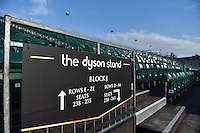 A general view of the Dyson stand. West Country Challenge Cup match, between Bath Rugby and Gloucester Rugby on September 26, 2015 at the Recreation Ground in Bath, England. Photo by: Patrick Khachfe / Onside Images