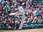 14 March 2014: Detroit Tigers pitcher Al Alburquerque on the mound during a Spring Training Game against the Washington Nationals at Joker Marchant Stadium in Lakeland, Florida. The Tigers defeated the Nationals 12-6 in Grapefruit League play. Mandatory Credit: Ed Wolfstein Photo *** RAW (NEF) Image File Available ***