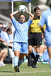 11 September 2011: North Carolina's Maria Lubrano. The Texas A&M Aggies defeated the University of North Carolina Tar Heels 4-3 in overtime at Koskinen Stadium in Durham, North Carolina in an NCAA Division I Women's Soccer game.