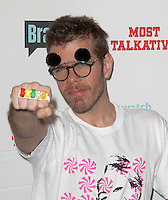Perez Hilton.Bravo's Andy Cohen's Book Release Party For &quot;Most Talkative: Stories From The Front Lines Of Pop Held at SUR Lounge, West Hollywood, California, USA..May 14th, 2012.half length pink black white print top sunglasses shades stubble facial hair hand fist gummi bears knuckleduster ring .CAP/ADM/KB.&copy;Kevan Brooks/AdMedia/Capital Pictures.