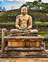The seated Buddha withstands the ravages of time to project a calm and contemplative aura.<br /> (Photo by Matt Considine - Images of Asia Collection)