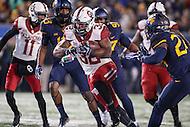 Morgantown, WV - November 19, 2016: Oklahoma Sooners running back Samaje Perine (32) runs the ball during game between Oklahoma and WVU at  Mountaineer Field at Milan Puskar Stadium in Morgantown, WV.  (Photo by Elliott Brown/Media Images International)