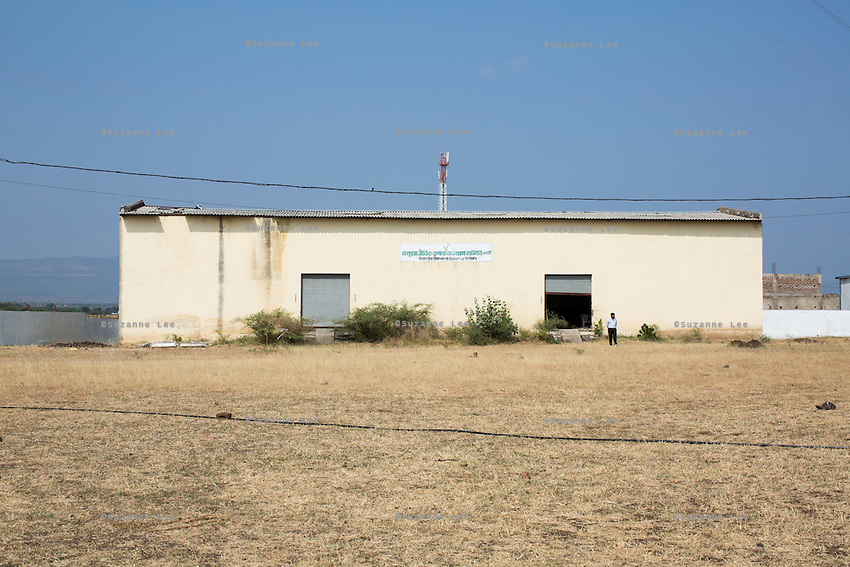 A warehouse that was built in the school compound using Fairtrade Premiums that was given to the Fairtrade Cotton Farmers in Khargone, Madhya Pradesh, India on 12 November 2014. Photo by Suzanne Lee for Fairtrade